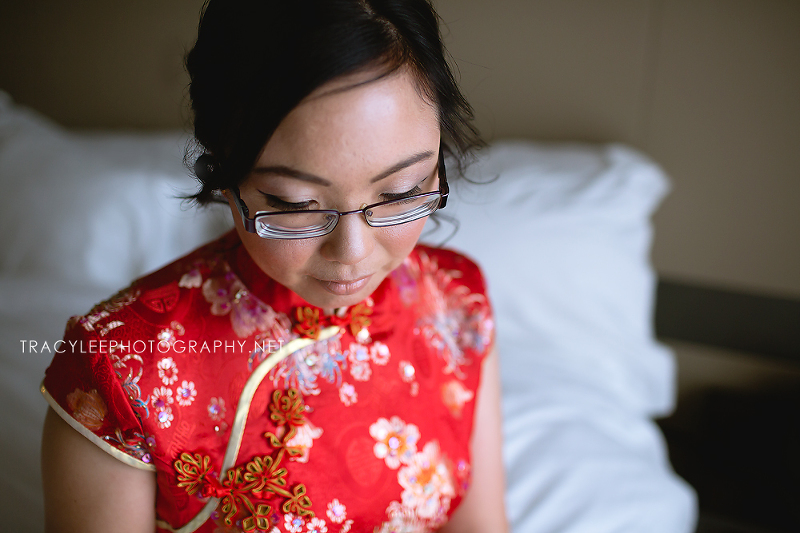 Rachael getting ready for her wedding day.