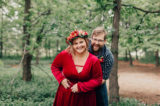 Sweet couples photography session with a gorgeous flower crown.