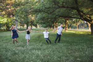 Fun family photos outdoors in Canberra