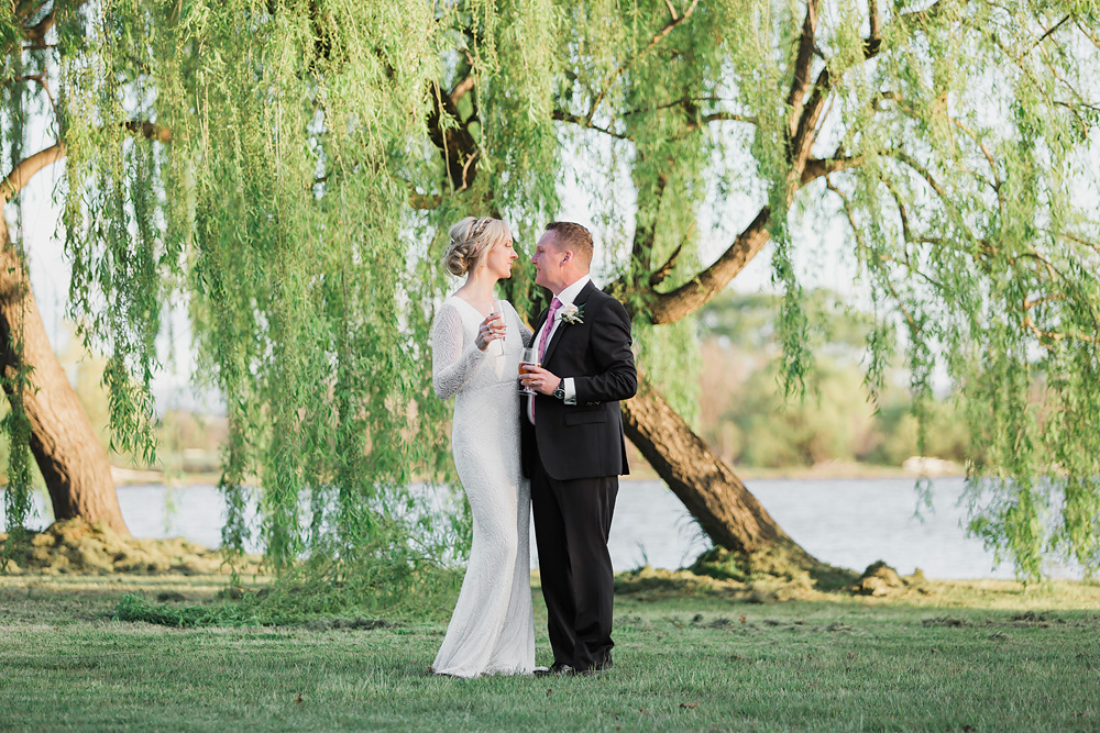 Natural Wedding Photography at the Boat House in Canberra
