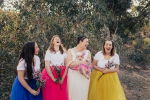 Canberra wedding party inspo- colourful and fun wedding clothes.
