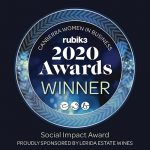 Winner of the Social Impact award Business Woman of the Year